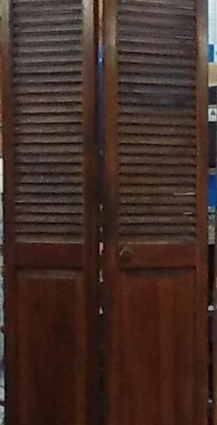 Wood Bi fold doors 4 $25