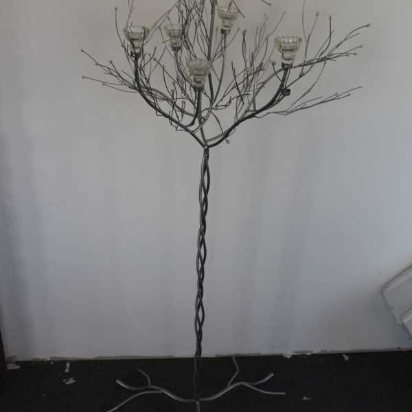 48 Silver Twig Candle Holder
