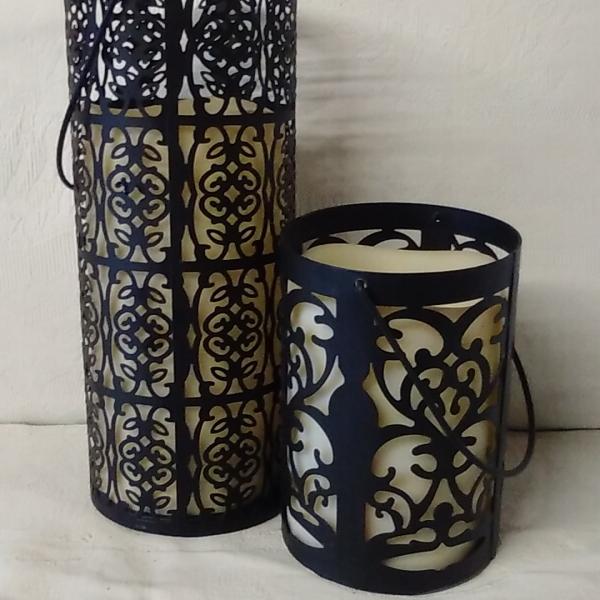 Black round lantern