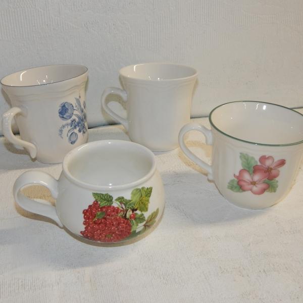 Eclectic tea cups 20 $2