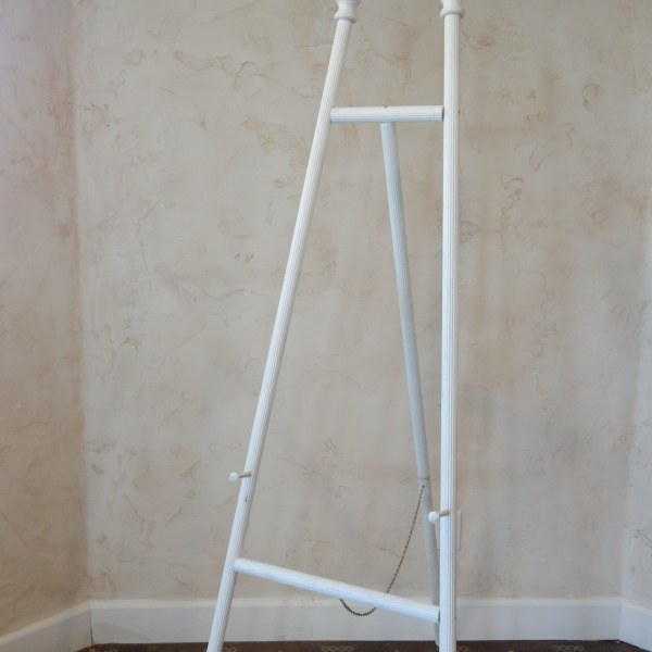White Tall easel