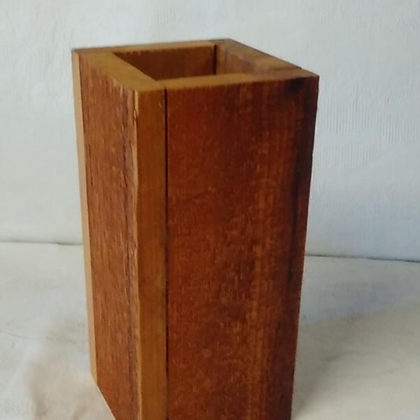Wooden box virtical
