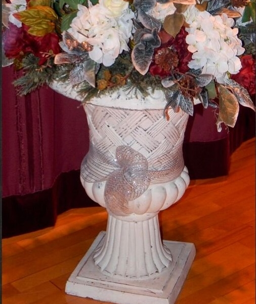 large off white urn