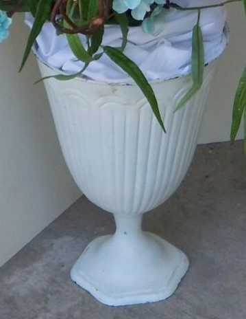 tall white vase