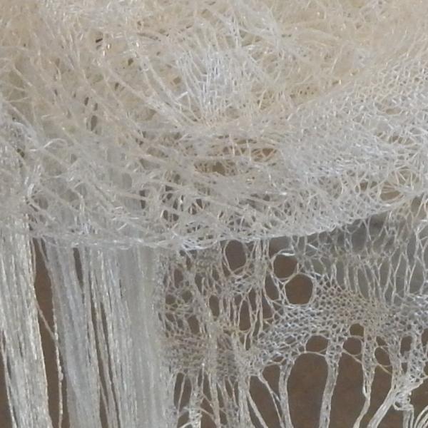 Cream shawl